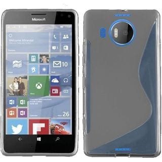 Insten S Shape TPU Rubber Candy Skin Case Cover For Microsoft Lumia 950 XL