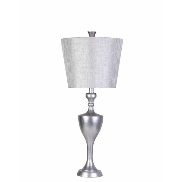 Transitional London Table Lamp with Silver Finish