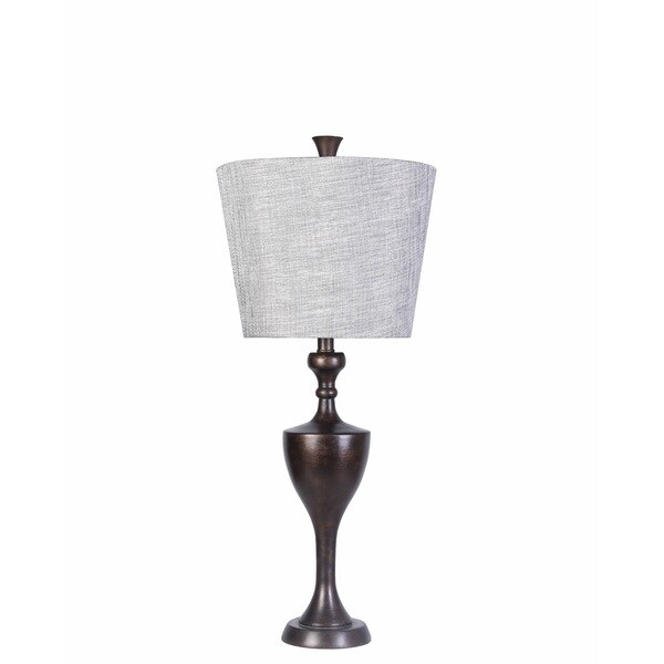 Transitional Hilton Table Lamp with Brown Finish