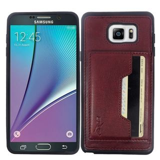 Insten Leather TPU Dual Layer Hybrid Case Cover with Wallet Flap Pouch For Samsung Galaxy Note 5