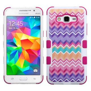 Insten Hot Pink/ Purple Camo Wave Tuff Hard PC/ Silicone Dual Layer Hybrid Case Cover For Samsung Galaxy Grand Prime