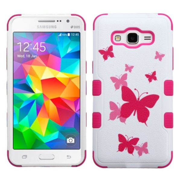 newest collection 7acb1 cf50e Shop Insten Pink/ White Butterfly Dancing Hard PC/ Silicone Dual ...