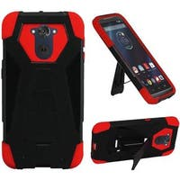 Insten Hard PC/ Silicone Dual Layer Hybrid Case Cover with Stand For Motorola Droid Turbo