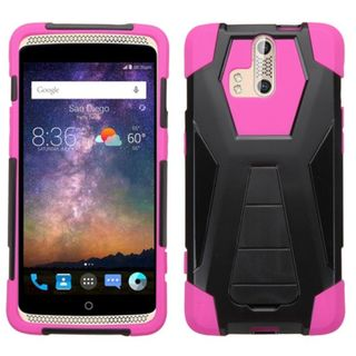 Insten Hard PC/ Silicone Dual Layer Hybrid Case Cover with Stand For ZTE Axon Pro