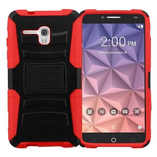 Insten hard PC Silicone Dual Layer Hybrid Case Cover with Holster For Alcatel One Touch Fierce XL