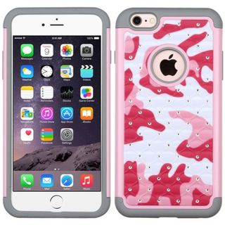 Insten hard PC Silicone Dual Layer Hybrid Rubberized Matte Case Cover For Apple iPhone 6 Plus/6s Plus