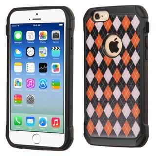Insten Argyle Hard PC/ Silicone Dual Layer Hybrid Rubberized Matte Case Cover For Apple iPhone 6/ 6s