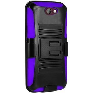 Insten hard PC Silicone Dual Layer Hybrid Case Cover with Holster For HTC One A9