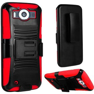 Insten hard PC Silicone Dual Layer Hybrid Case Cover with Holster For Microsoft Lumia 950