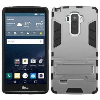 Insten hard PC Silicone Dual Layer Hybrid Rubberized Matte Case Cover with Stand For LG G Stylo