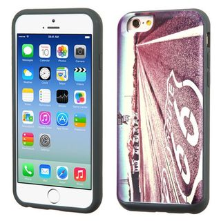 Insten Purple Historic Route 66 Hard PC/ Silicone Dual Layer Hybrid Rubberized Matte Case Cover For Apple iPhone 6/ 6s