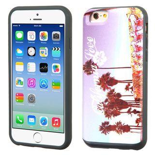 Insten Purple California Love Venice Hard PC/ Silicone Dual Layer Hybrid Rubberized Matte Case Cover For Apple iPhone 6/ 6s
