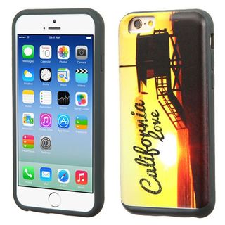 Insten Yellow California Love Sunset Hard PC/ Silicone Dual Layer Hybrid Rubberized Matte Case Cover For Apple iPhone 6/ 6s