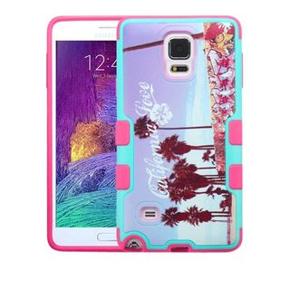 Insten Purple/ Pink California Love Venice Hard Snap-on Rubberized Matte Case Cover For Samsung Galaxy Note 4