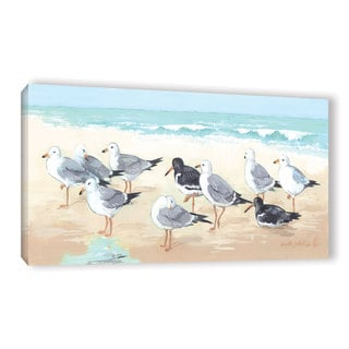 Link to ArtWall Anita Phillips 'Seagulls and Sand' Gallery-wrapped Canvas Similar Items in Canvas Art