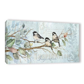 ArtWall Anita Phillips 'Chickadee Inspiration' Gallery-wrapped Canvas