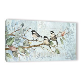 ArtWall Anita Phillips 'Chickadee Inspiration' Gallery-wrapped Canvas