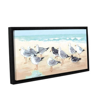 Anita Phillips 'Seagulls and Sand' Gallery Wrapped Floater Framed Canvas