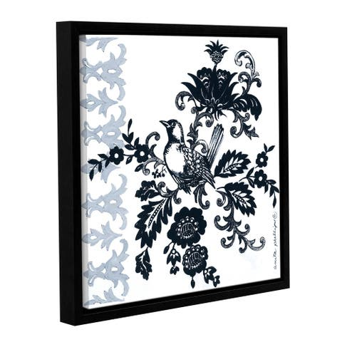 Anita Phillips 'Bird in Black' Gallery Wrapped Floater Framed Canvas