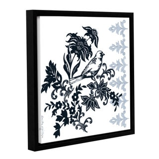 Anita Phillips 'Bird on Branch' Gallery Wrapped Floater Framed Canvas
