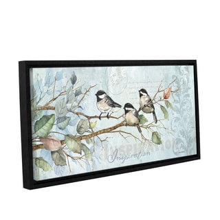 Anita Phillips 'Chickadee Inspiration' Gallery Wrapped Floater Framed Canvas