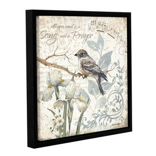 Anita Phillips 'A Song And A Prayer' Gallery Wrapped Floater Framed Canvas