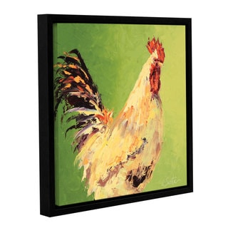 Leslie Saeta's Fall Roosters, Gallery Wrapped Floater-framed Canvas