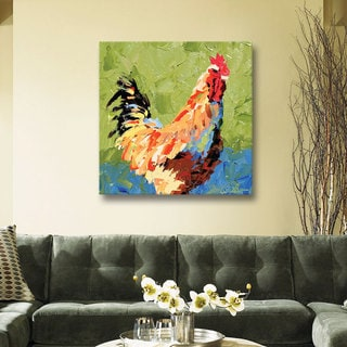 Leslie Saeta's Roosters II, Gallery Wrapped Canvas