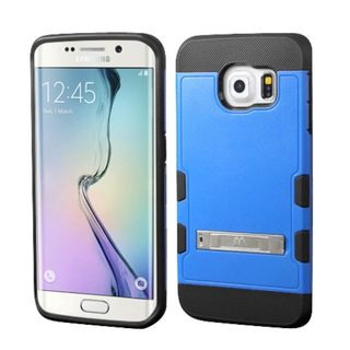 Insten Hard PC/ Silicone Rubberized Matte Case Cover with Stand For Samsung Galaxy S6 Edge