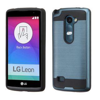 Insten hard PC Silicone Dual Layer Hybrid Rubberized Matte Case Cover For LG Leon/Risio/Tribute 2