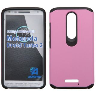 Insten hard PC Silicone Dual Layer Hybrid Rubberized Matte Case Cover For Motorola Droid Turbo 2