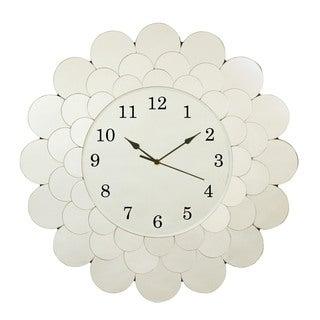 Selections by Chaumont Fleur All Glass Clock