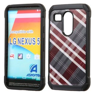 Insten hard PC Silicone Dual Layer Hybrid Rubberized Matte Case Cover For LG Google Nexus 5X