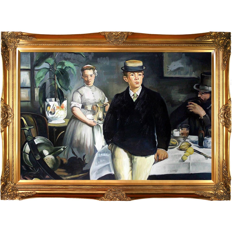 La Pastiche Edouard Manet 'Breakfast in the Studio' (the ...