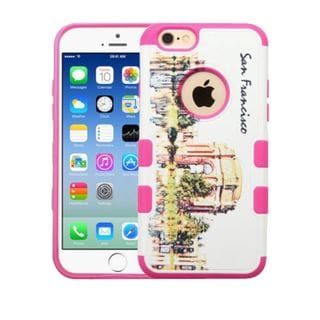 Insten White/ Pink San Francisco Palace of Fine Arts Hard Snap-on Rubberized Matte Case Cover For Apple iPhone 6/ 6s