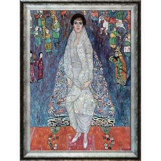 Gustav Klimt 'Portrait of Baroness Elisabeth Bachofen-Echt' Hand Painted Framed Canvas Art