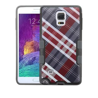 Insten Argyle Hard Snap-on Rubberized Matte Case Cover For Samsung Galaxy Note 4