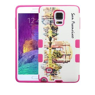 Insten White/ Pink San Francisco Palace of Fine Arts Hard Snap-on Rubberized Matte Case Cover For Samsung Galaxy Note 4