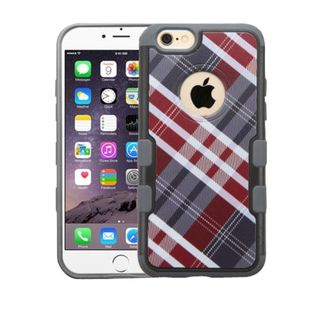 Insten Argyle Hard Snap-on Rubberized Matte Case Cover For Apple iPhone 6 Plus/ 6s Plus