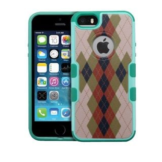 Insten Argyle Hard Snap-on Rubberized Matte Case Cover For Apple iPhone 5/ 5S/ SE