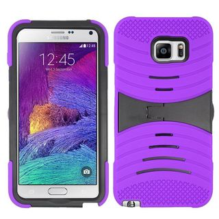 Insten Wave Symbiosis Soft Silicone/ PC Dual Layer Hybrid Rubber Case Cover with Stand For Samsung Galaxy Note 5