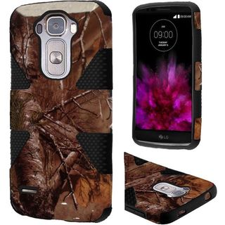 Insten Brown/Black Camouflage Dynamic Hard PC/ Silicone Dual Layer Hybrid Rubberized Matte Case Cover For LG G Flex 2