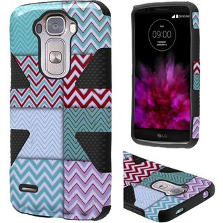 Insten Chevron Dynamic hard PC Silicone Dual Layer Hybrid Rubberized Matte Case Cover For LG G Flex 2