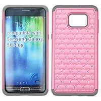 Insten Hard PC/ Silicone Dual Layer Hybrid Rubberized Matte Case Cover with Diamond For Samsung Galaxy S6 Edge Plus