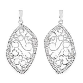 Olivia Leone 0.76 Carat Genuine White Diamond .925 Sterling Silver Earrings