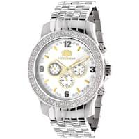 Luxurman Men's Raptor Two-tone 1/4ct TDW Diamond Watch