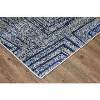 Silver/ Blue/ Yellow Indoor Area Rug (2'8 x 4'7)