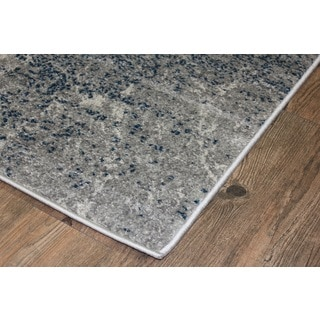 Silver/ Blue Indoor Area Rug (2'8 x 4'7)