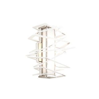 Corbett Lighting Tantrum 1-light White Wall Sconce