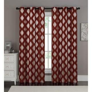VCNY Sorrento Metallic Window Curtain Panel Pair